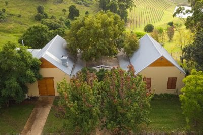 Aerial Photo of Tallavera Cellar Door by BRW Constructions